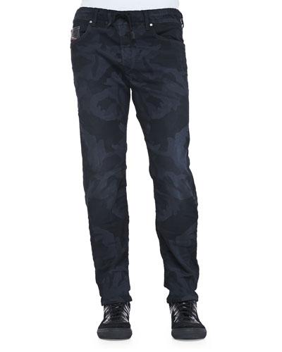Waykee Camo-Print Straight-Leg Jogger Jeans