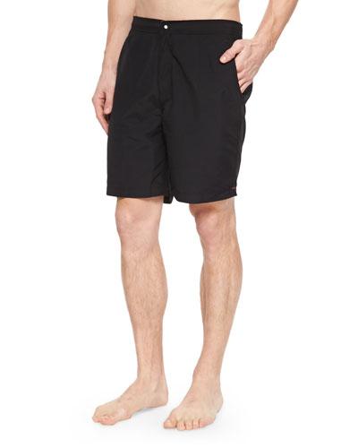 Pocket Swim Trunks, Black