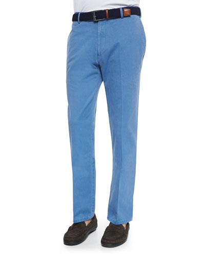 Washed Twill Pants, Light Blue