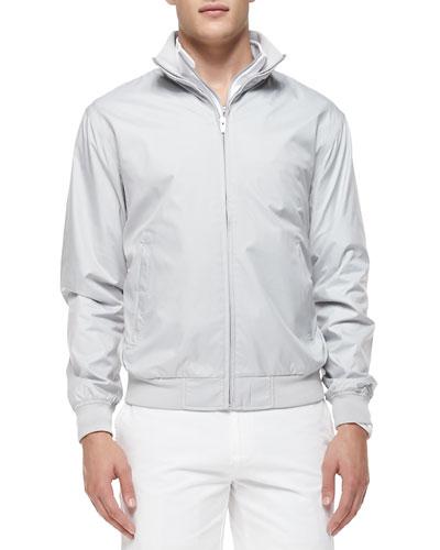Austin Zip-Front Jacket, Gray