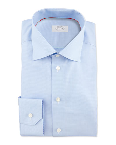 Eton Mini-Houndstooth Dress Shirt