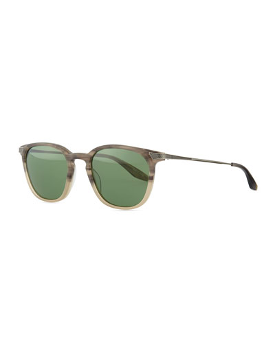 Barton Perreira Dean Rectangular Sunglasses, Gray