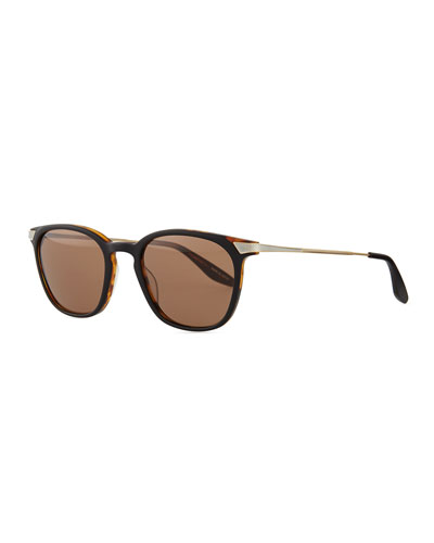 Barton Perreira Dean Rectangular Sunglasses, Black