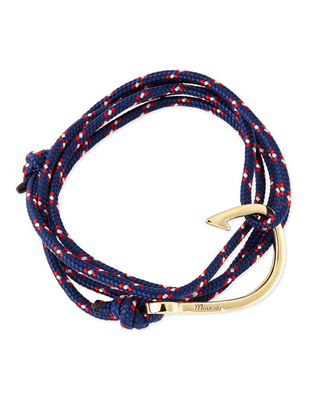 Miansai Hook Rope Bracelet, Navy
