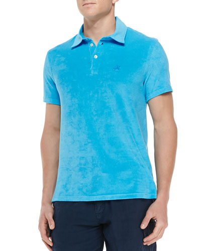 Terry Polo Shirt, Blue