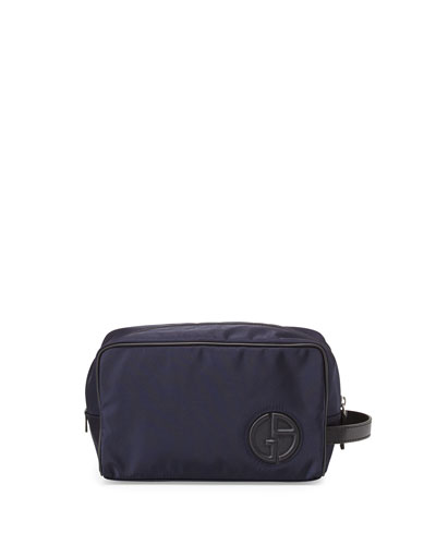 Nylon Toiletry Bag, Blue