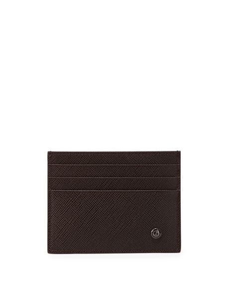 Giorgio Armani Logo Saffiano Card Case