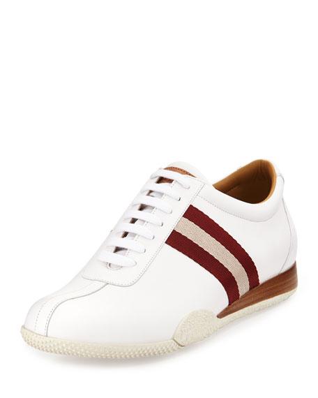 Bally Freenew Leather Sneaker, White | Neiman Marcus