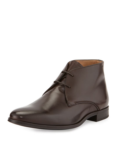Lellio Leather Ankle Boot, Brown