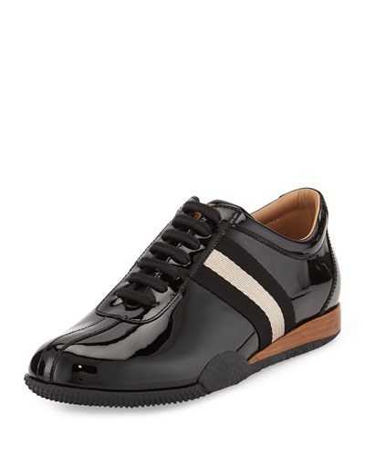 Frenz Patent Leather Sneaker, Black