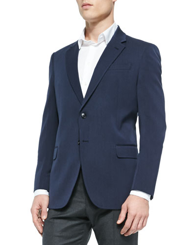 Calvary Twill Soft Jacket, Navy