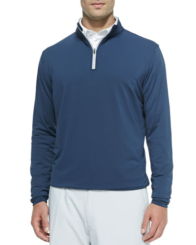 Perth Quarter-Zip Sweater, Navy