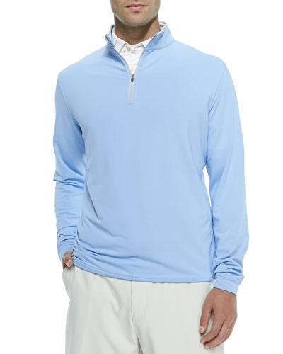 Perth Quarter-Zip Pullover Sweater, Blue