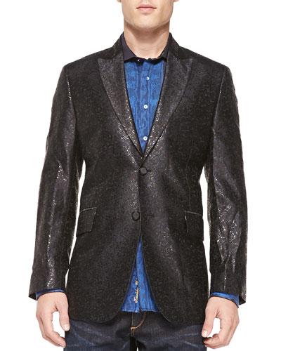 Limited Edition Shortland Metallic Jacket, Black