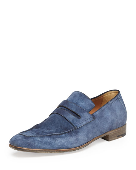 Berluti Andy Suede Loafer, Bue