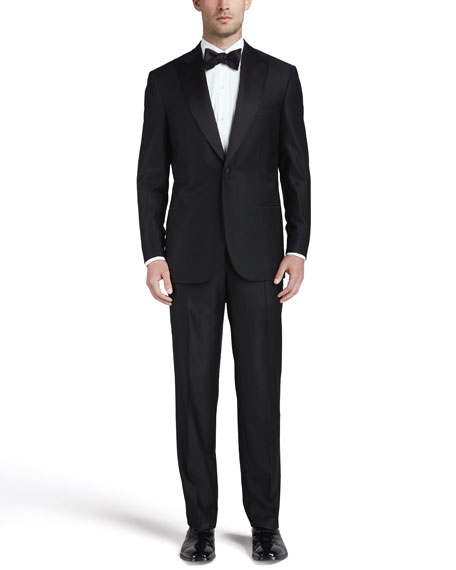 One-Button Peaked-Lapel Tuxedo