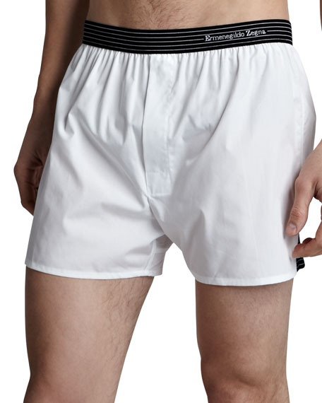 Woven Boxers, White
