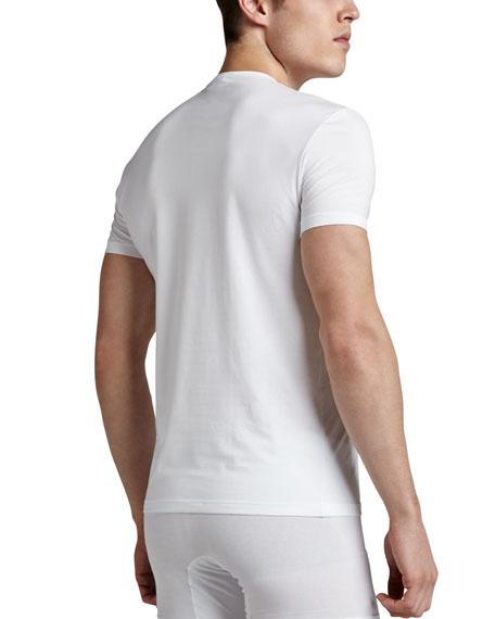Crewneck Stretch-Cotton T-Shirt, White