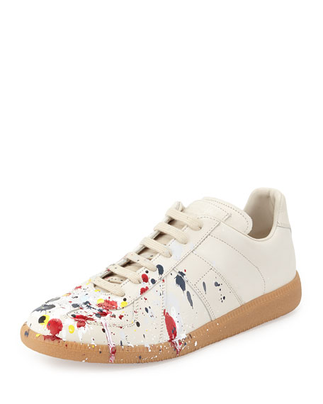 Splatter Low-Top Sneaker, Blue/Red