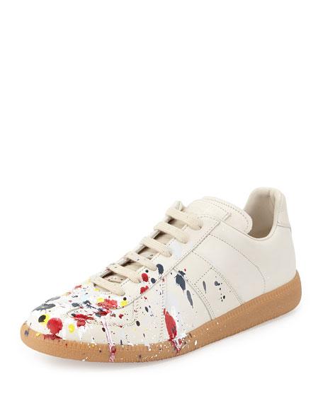 Splatter Low-Top Sneaker, Blue/Red