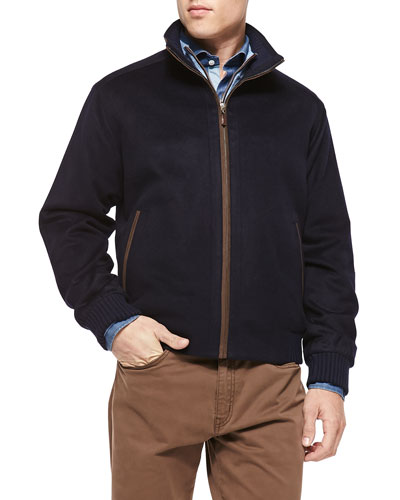Patrick Wool/Cashmere Jacket, Navy