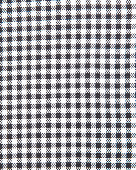 Gingham-Check Sport Shirt, Black