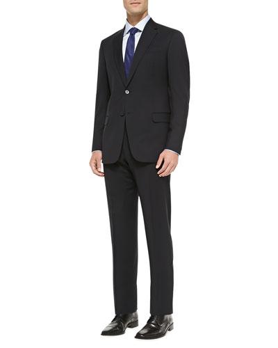 Basic Wool Suit, Navy