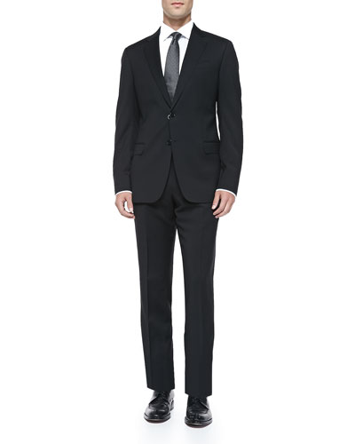 Basic Wool Suit, Black