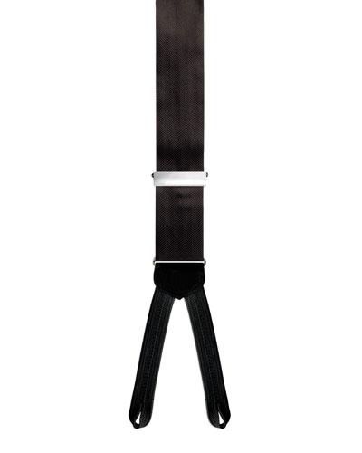 Formal Herringbone Silk Braces