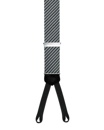Formal Diagonal Braces, Black/Silver
