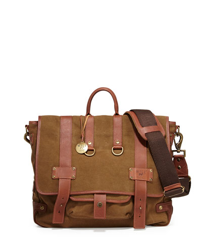 Hopper Canvas Messenger Bag