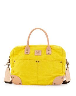 Cotton-Canvas Flight Bag, Yellow