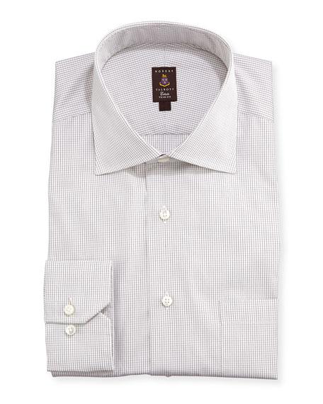 Robert talbott mini graph check dress shirt brown for Robert talbott shirts sale