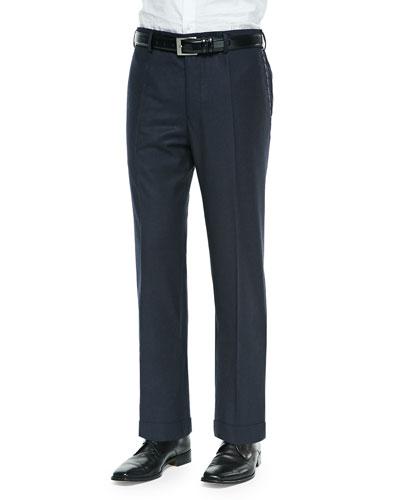 Bill Wool-Flannel Trousers, Navy