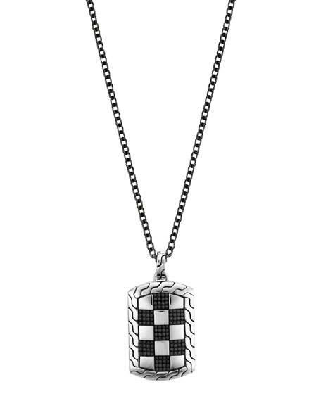 Men's Classic Chain Silver/Steel Dog Tag Necklace