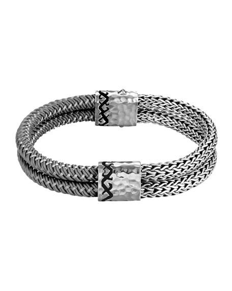 Palu Dayak Double Row Bracelet, Gray