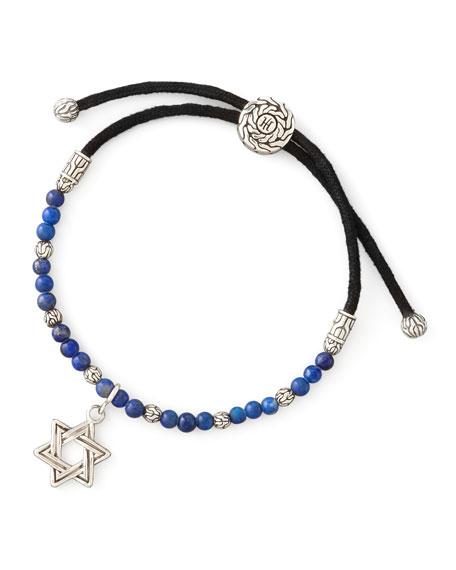 Batu Bedeg Silver Star of David Bracelet