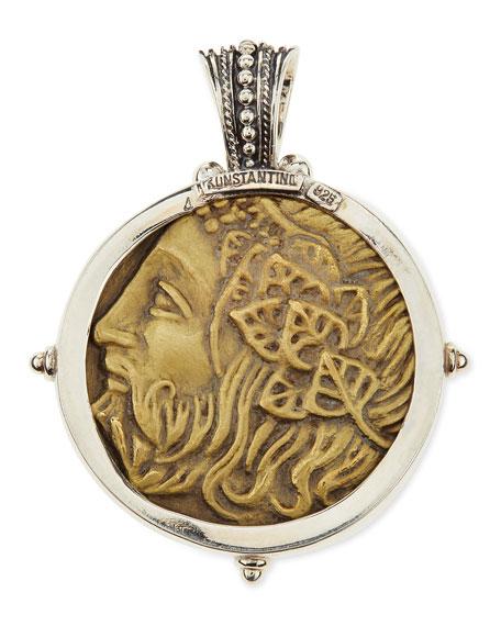 Men's Sterling and Bronze Hercules Pendant