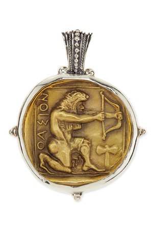 Konstantino Men's Sterling and Bronze Hercules Pendant