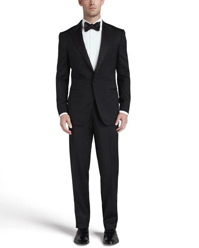 Peaked-Lapel One-Button Tuxedo