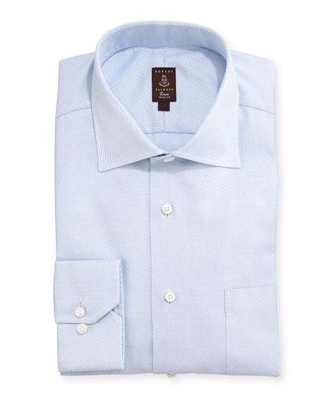 Robert talbott diagonal twill dress shirt light blue for Robert talbott shirts sale