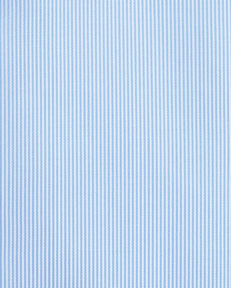 Textured Rope Dress Shirt, Light Blue