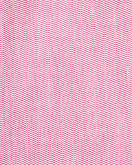 Herringbone Dress Shirt, Strawberry