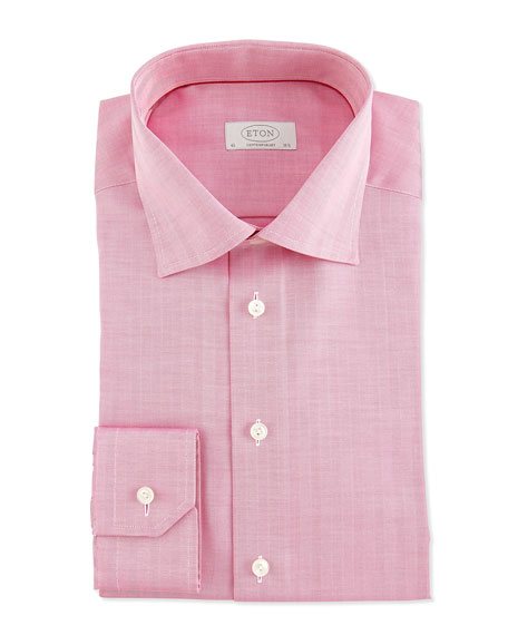 Herringbone Dress Shirt, Strawberry