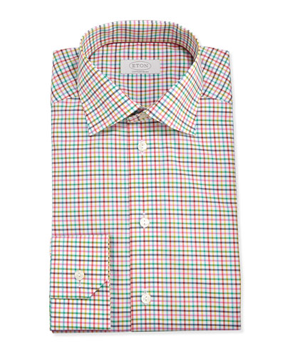 Colorful Check Twill Dress Shirt, York