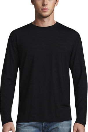 Derek Rose Basel 1 Long-Sleeve Jersey T-Shirt, Black