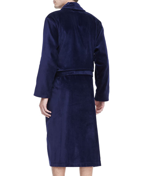 Terry Cloth Robe, Navy