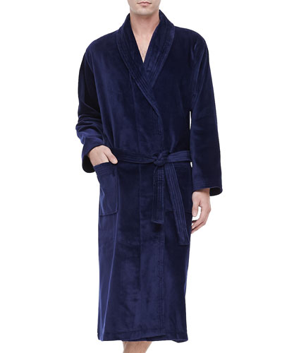 Terry Cloth Robe  Navy