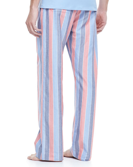 Striped Lounge Pants, Blue/Red