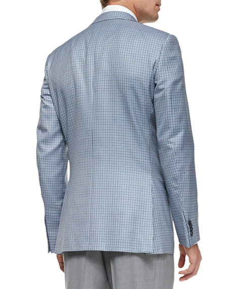 Trofeo 600 Check Jacket, Blue/Gray/White